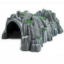 Model Simulation Accessories Scenery Tunnel Cave Compatible Rockery With Wooden Building Train Landscape Brion Diorama Layout