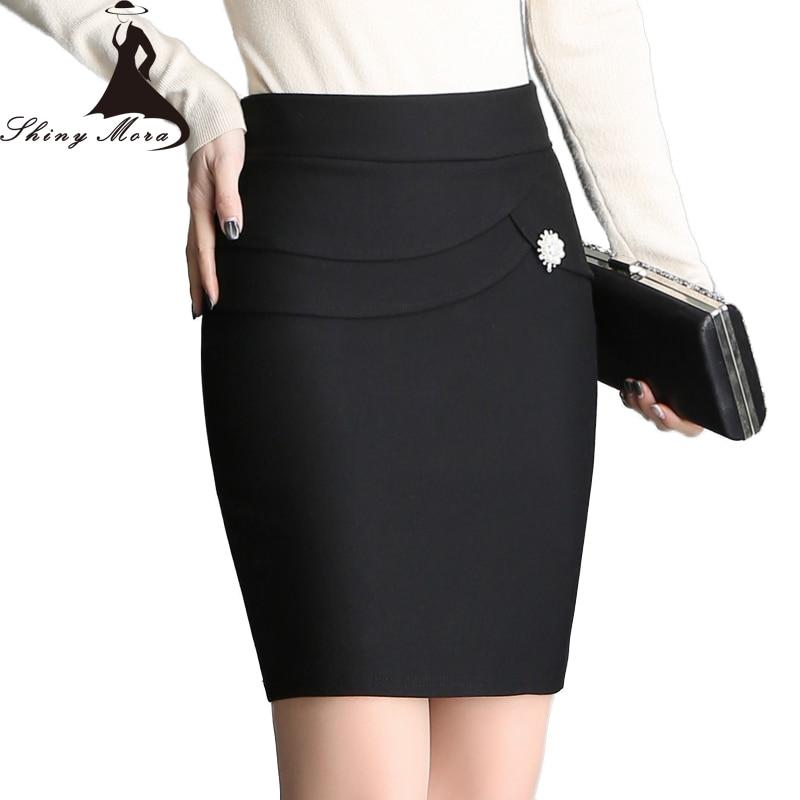 SHINYMORA Summer New Pencil Slim Skirts for Women Elasticity Waist Mini Sexy OL Style Office Lady Elegant Skinny Skirts M-XXL