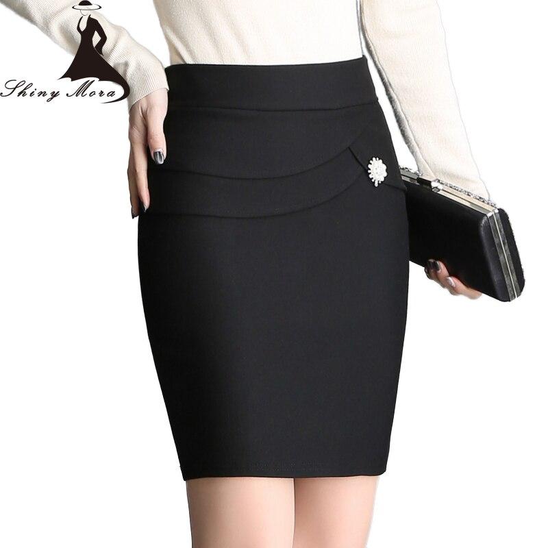 Mujer señoras de la Alta Cintura Elástico Elástico PU PVC Espalda dividida de Falda Midi Nuevo