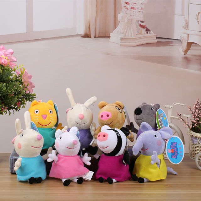 Original Peppa Pig Plush Toys Peppa George Family Stuffed Doll Peppa Friends Candy Danny Pedro Emily Birthday Gift For Kids