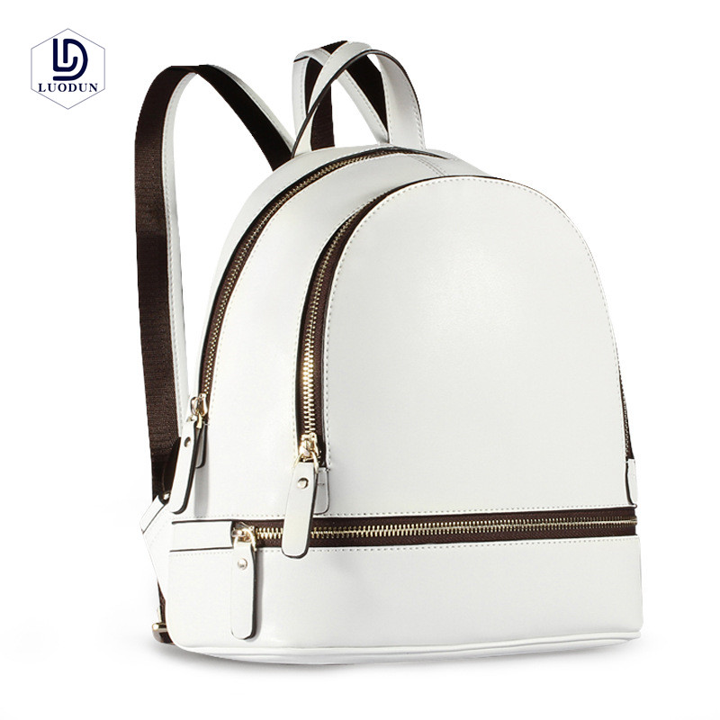 LUODUN 2018 new backpack ladies shoulder bag leather fashion Korean version of the tide simple bag college wind mini bag qiaobao 2018 new korean version of the first layer of women s leather packet messenger bag female shoulder diagonal cross bag