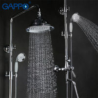 GAPPO Antique Bathroom Shower Faucet Set Bathtub Mixer Shower Faucets Chrome Bath Shower Tap Waterfall Rain