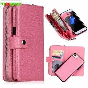 Image 1 - Новинка для iPhone X 8 7 6 6S 8 Plus кошелек сумка полиуретановая на молнии кошелек чехол для Samsung galaxy S8 Plus S7 S6 Edge S5 Note 8 Сумочка чехол