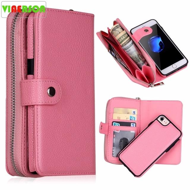 Новинка для iPhone X 8 7 6 6S 8 Plus кошелек сумка полиуретановая на молнии кошелек чехол для Samsung galaxy S8 Plus S7 S6 Edge S5 Note 8 Сумочка чехол