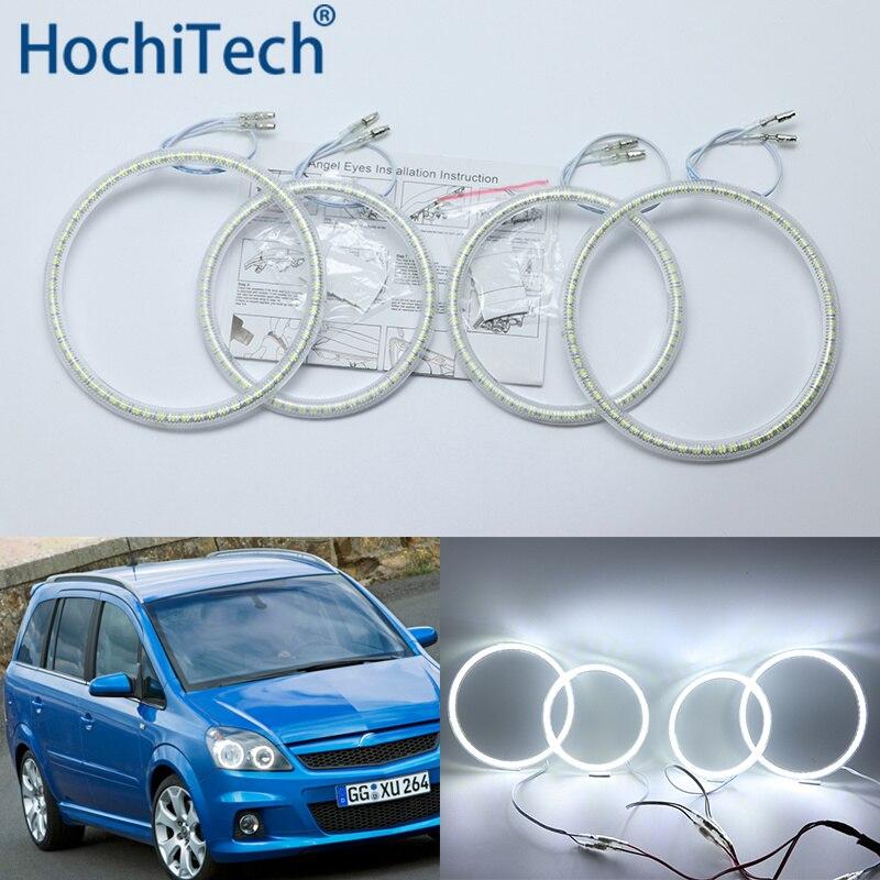 Ultra bright SMD white LED angel eyes halo ring kit daytime running light DRL for Opel Zafira B 2005-2014