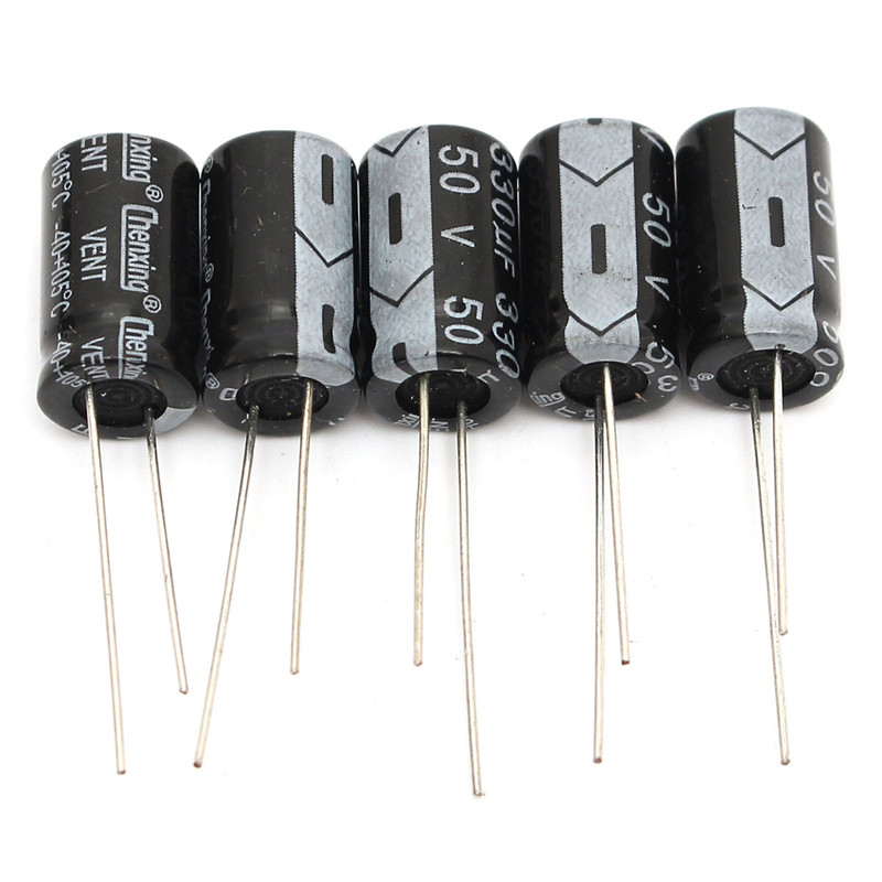 120x Fixed Electrolytic Capacitor Capacitance Component 15 Value 50V 1uF-2200uF