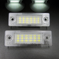2pcs New18 LED License Number Plate Light Lamp For VW T5 Caddy Golf Passat Touran Free
