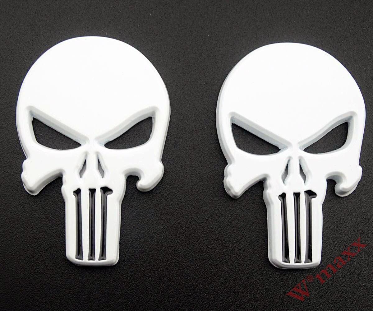Metal 3D Punisher Skull Tank Fairing Emblem Decal Car Motorcycle Sticker Custom