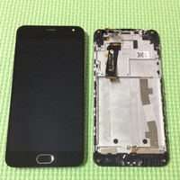 Best Working LCD Display Touch Screen Digitizer Assembly Home Bottom Frame For Meizu M2 Meilan 2