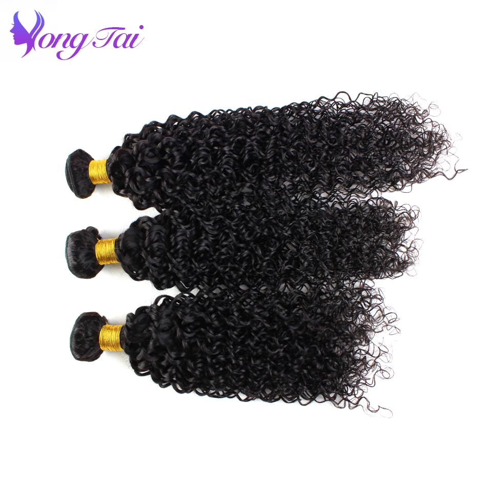 Mongolian Afro Kinky Curly Hair 4 Bundles Yuyongtai Human Hair Bundles Natural Color Remy Hair Extension 4 Bundles Free Shipping