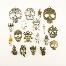 Charms For Jewelry Making Crown Skull Mask Head Palm  Accessories Parts Creative Handmade Birthday Gifts