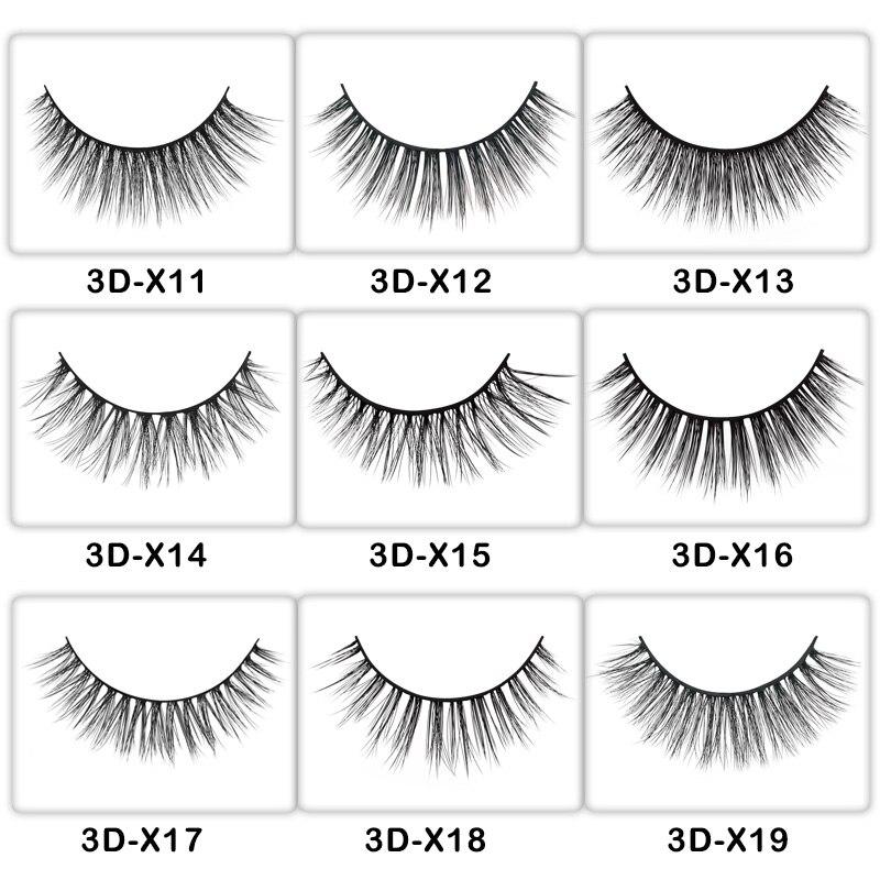 50 Pairs mink eyelashes customize packing false eyelashes 3d mink lashes for private label eyelash extension for makeup DIY logo