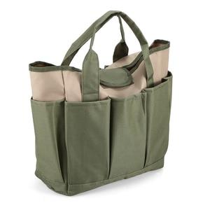Image 1 - Bahçe alet çantası açık araçları Oxford kumaş bahçe kare kutu tipi çanta için bahçe aracı kiti açık araçları