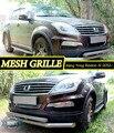 Mesh grille para Ssang Yong Rexton (III) 2012-car styling decoración moldeo protección de cromo inoxidable cubierta de la almohadilla