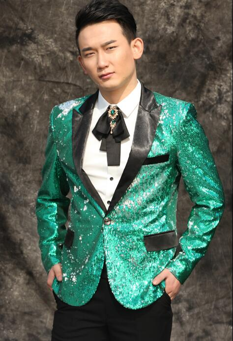 Original News Men Suits Designs Masculino Homme Terno Stage Costumes For Singers Men Sequin Blazer Dance Clothes Jacket Dress