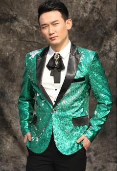 Original news men suits designs masculino homme terno stage costumes for singers men sequin blazer dance clothes jacket dress