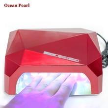 OCEAN PEARL 36W UV Nail Dryer LED Lamp Ultraviolet Lamp for Nails Diamond Shaped Nail Lamp Curing UV Gel Polish Nail Art Tools