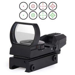 Nova Rail Riflescope Caça Airsoft Holográfica Red Dot Sight Scope Optics Reflex 4 Reticle Tactical Arma Acessórios