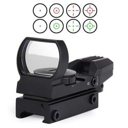 Novo trilho riflescope caça airsoft óptica scope holográfico red dot sight reflex 4 retículo tático arma acessórios
