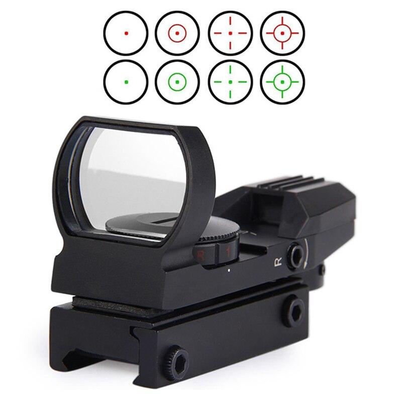 Nuovo Rail Riflescope di Caccia di Airsoft Ottica Scope Olografico Red Dot Sight Reflex 4 Reticolo Tattico della Pistola Accessori