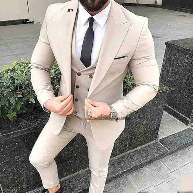 6d5e7dcc5b Latest Coat Pant Designs Beige Mens Suits For Wedding Slim Fit Groomsman Suit  Custom made Wedding