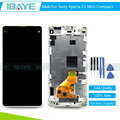 AAA Quality For Sony Xperia Z1 mini LCD Z1 Compact LCD Display Touch Screen Digitizer Assembly Frame White + Tracking Code