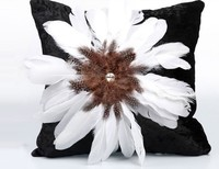 NEW luxury handmade feather pillow case cushion cover home car bed sofa living room dec wholesale FG1106