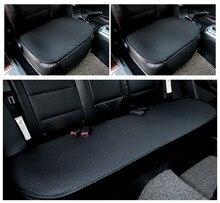 Funda de cojín para asiento de coche, alfombrillas transpirables, cómoda, de lino