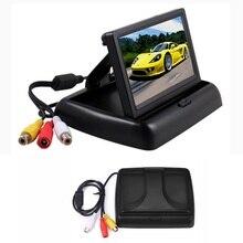 4.3 Inch TFT LCD Car Monitor Foldable Monitor Display  Rearview Monitors цена и фото