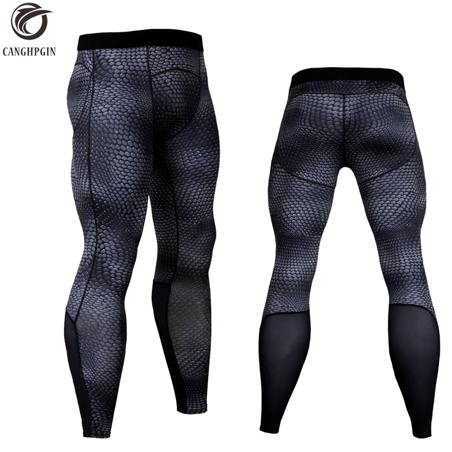 Men's Sports Wear Tights Running Compression Pants Men Bodybuilding Skinny Leggings Joggers Jogging Pants Fitness Yoga Trousers