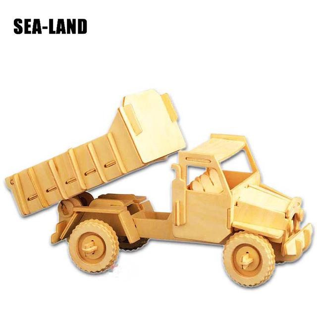 Jouets Pour Enfants 3D Puzzle bricolage Puzzle en bois D'ingénierie Camion Un jouets pour enfants Également Adapté Adulte Jeu Cadeaux De qualité supérieure Bois