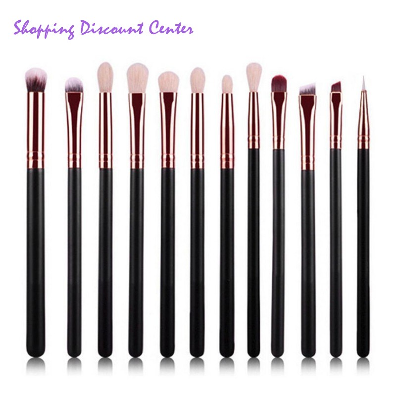 12 Pieces/set Beauty Makeup Brushes Foundation Powder Eyeshadow Eyeliner Lip Blush Make Up Brush Tools Pincel Maquiagem 8pcs rose gold makeup brushes eye shadow powder blush foundation brush 2pc sponge puff make up brushes pincel maquiagem cosmetic