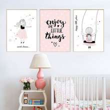 Poster Canvas Kids Decoration Poster Baby Girl Roo