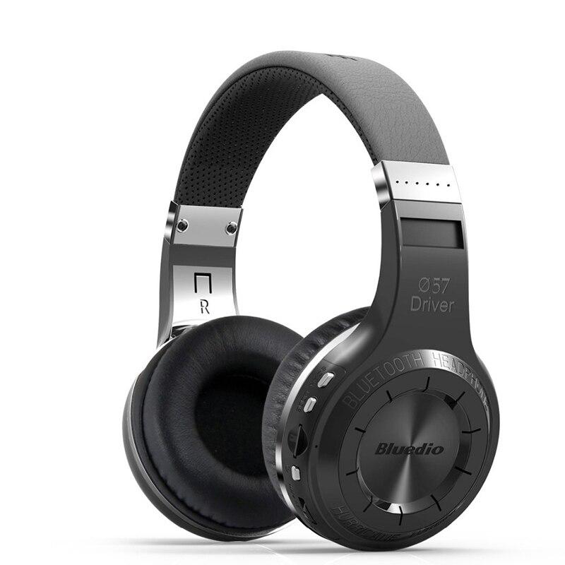 Orignal Bluedio H+ Bluetooth Stereo Wireless headphones Mic Micro SD port FM Radio BT4.1 Over ear headphones free shipping
