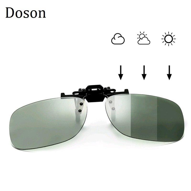 Gafas De Sol polarizadas fotocromáticas con Clip, gafas De Sol con visión nocturna para conducción, lentes anti-uva, anti-uvb, gafas De Sol con Clip De Sol UV400
