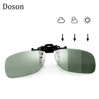 Photochromic Polarized Clip On Sunglasses Near-Sighted Driving Night Vision Lens Anti-UVA Anti-UVB Sunglasses Clip De Sol UV400 car driver goggles anti uva polarized sun glasses driving night vision lens clip on sunglasses interior accessories