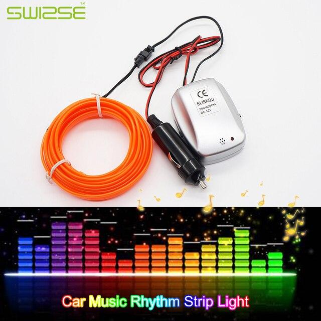 2 Meters/PCS Auto Tür Dekoration Musik Rhythmus Flash Light EL ...