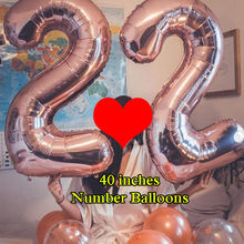1 PCS 32 40 Inch Pink Blue Rose Gold Numbers Digital Balloons Aluminum Foil Helium Balloon Birthday Wedding Party Decor Globos