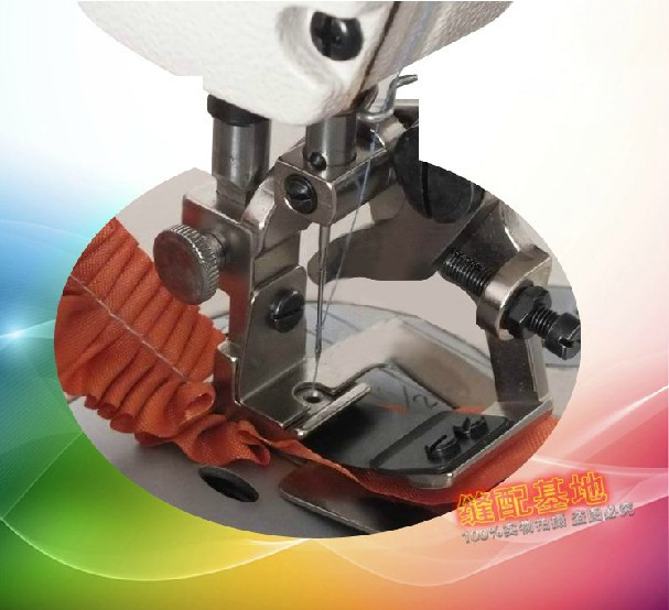 Industrial Sewing Machine Parts Pleating Device Wrinkles Presser Foot