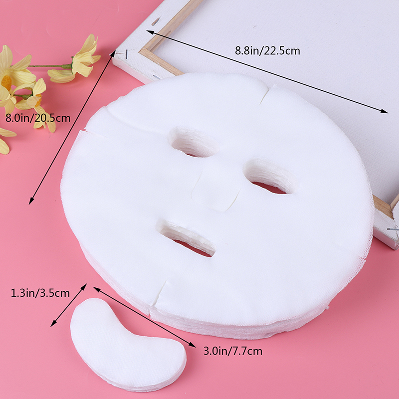 DIY Soft Non-toxic Disposable Face Mask Pure  Facemask Sheet Beauty Tools Breathable Cotton Face Face Mask Sheet Paper 100pc