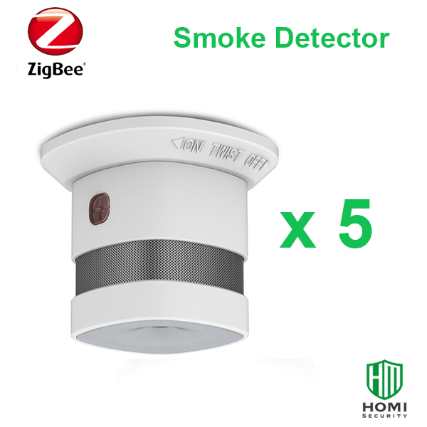 Working With SmartThings Zigbee 5pc Red Dot Reworded Zigbee Fire Smoke Sensors Wireless