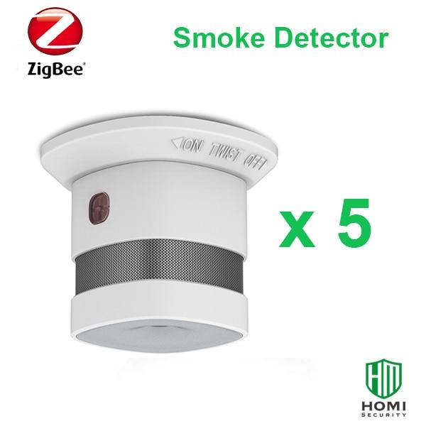 Working With SmartThings Zigbee 5pc Red Dot Reworded Zigbee Fire Smoke Sensors Wireless