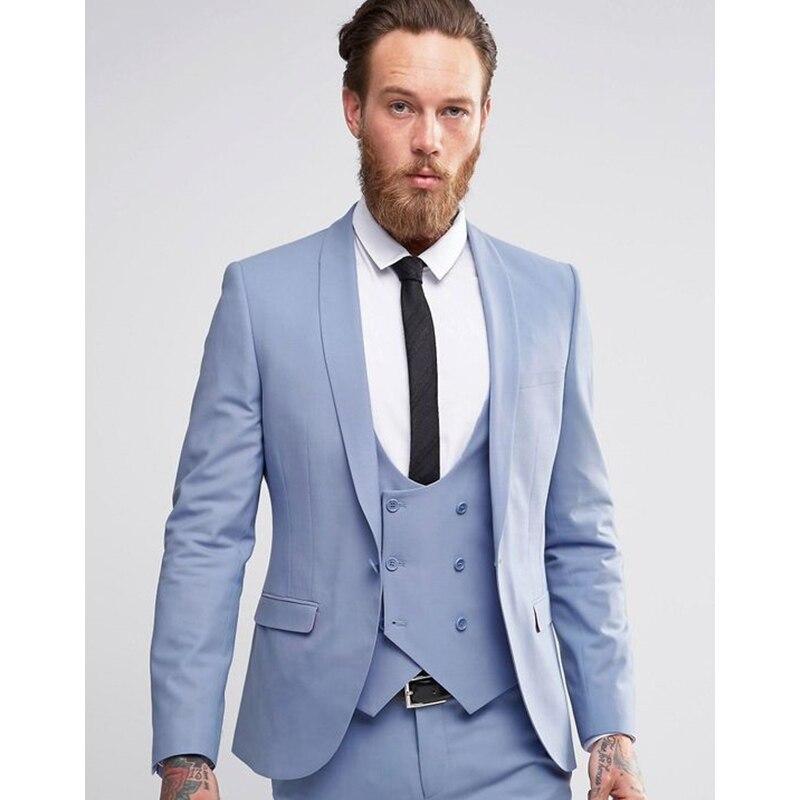 Mens Linen 2 Piece Seersucker Suit Mens Slim Fit Groom Tuxedos Prom Casual Blazer Jacket Suits