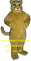 wild tan Cougar Mascot Costume wholesale adult size cartoon cougar lion theme anime cosplay costumes carnival fancy dress 2677