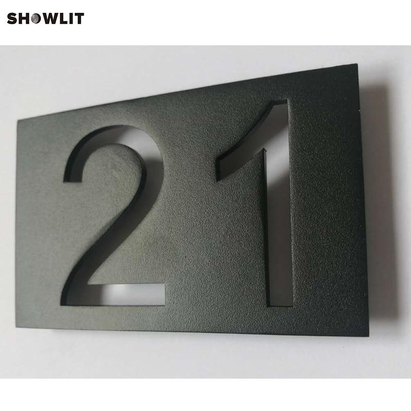 304 Stainless Steel Powered Coated Black Door Plate цена