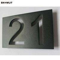 304 Stainless Steel Powered Coated Black Door Plate