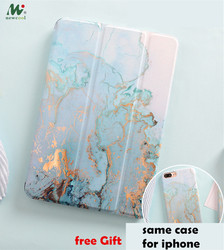 Marble Magnet Flip Cover For iPad Pro 9.7 11 air 10.5 12.9 10.2 Mini 1 2 3 4 mini5 Tablet Case cover for iPad 9.7 2017 2018 2019