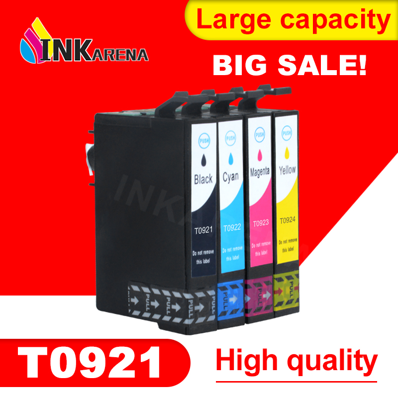 T0921N Ink Cartridge For Epson T0921 92N Ink For Epson Stylus CX4300 TX117 T26 T27 TX106 TX119 TX109 C91 Printer Ink Full Ink