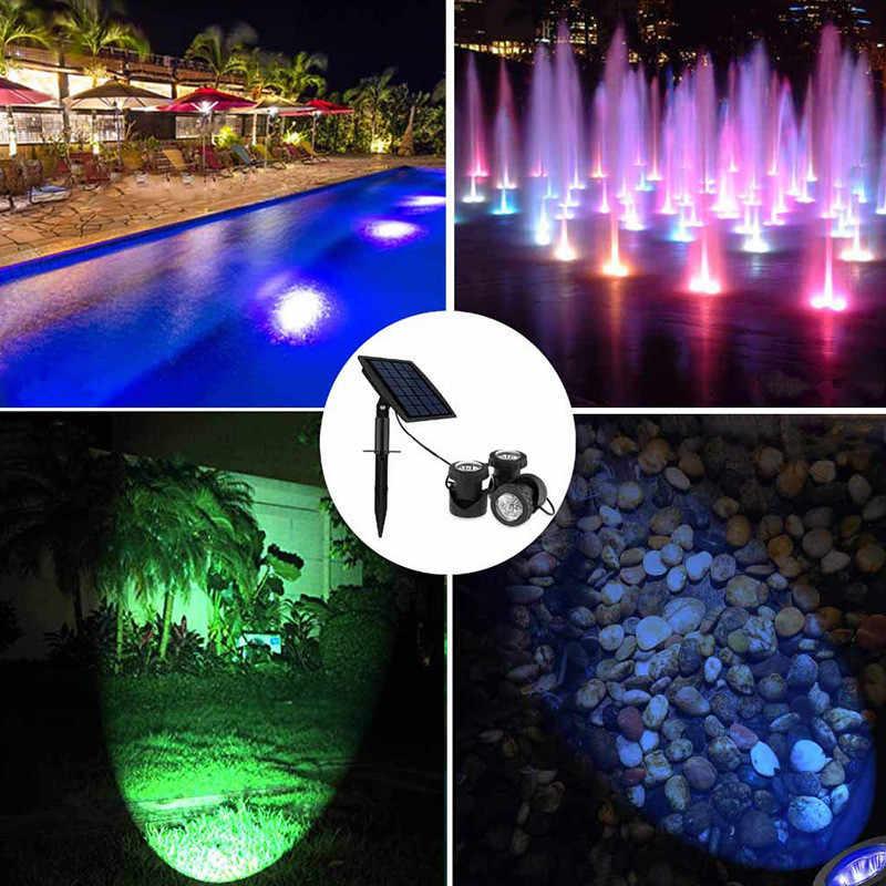 Năng lượng mặt trời Bể Đèn Luz Sumergible Năng Lượng Mặt Trời Bể Bơi Piscina Led RGB Dưới Nước Sân Vườn Ngoài Trời Đảng Đèn LED Chống Nước 12 V 3M 6 đèn led Chìm