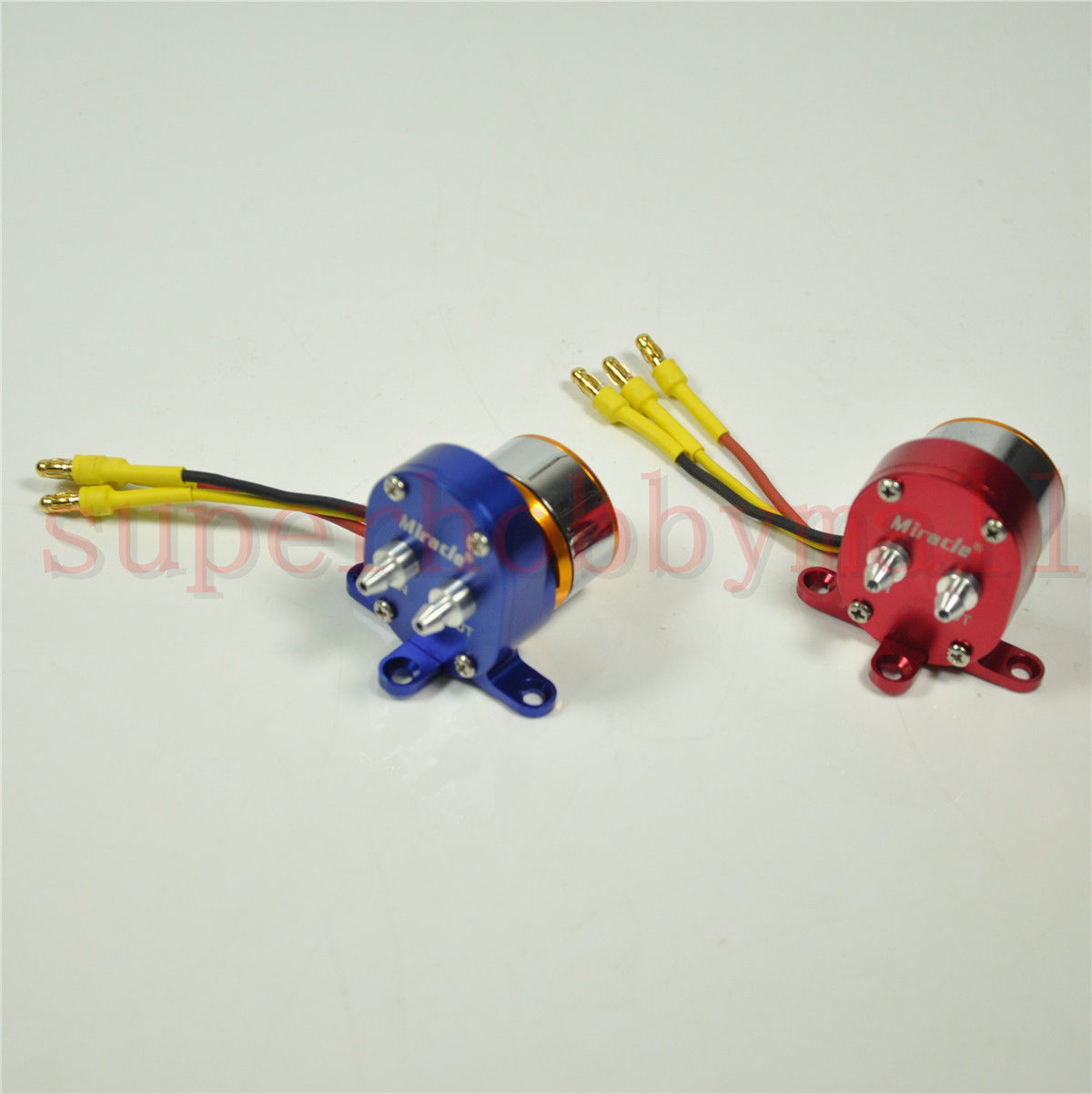 Smoke Pump With Brushless Motor ESC For Gas Engine RC Airplane Red/Blue Miracle cartoon airplane style red